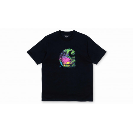 "Tee-Shirt Sunset C ""Noir"""