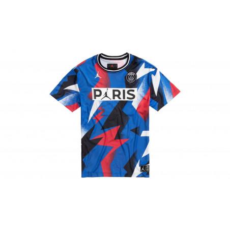 "Tee-shirt en Mesh Jordan x PSG ""Bleu"""