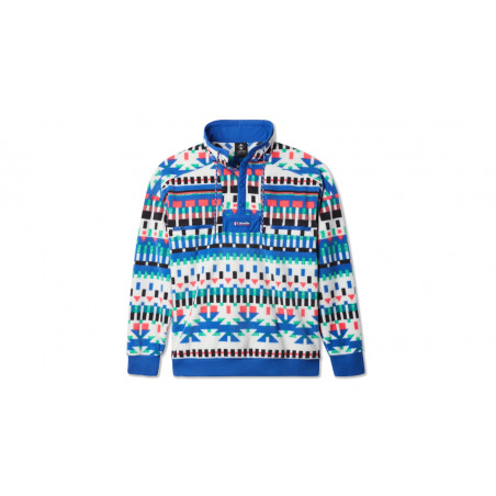 "Blouson Polaire Powder Keg ""White Print / Lapis Blue"""