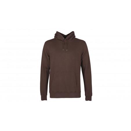 "Sweatshirt Capuche Coton Organique ""Coffee Brown"""