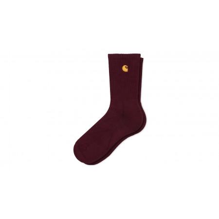 "Chase Socks ""Bordeaux / Gold"""