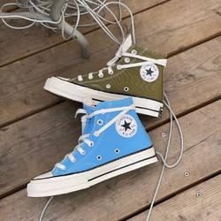 Converse Chuck 70 Hi Top Recycled «Univerdity Blue» & «Dark Moss» —————————————————————————— Disponible @vestiairestore Metz / Nancy & sur  www.vestiairestore.com —————————————————————————— Du 36 au 45   90€  —————————————————————————— • 5/7 Rue de Ladoucette 57000 METZ • 30 Rue Gambetta 54000 NANCY  Lundi  14h-19h Mardi à Vendredi  10h30-12h30  14h-19h Samedi  10h30-19h ——————————————————————————